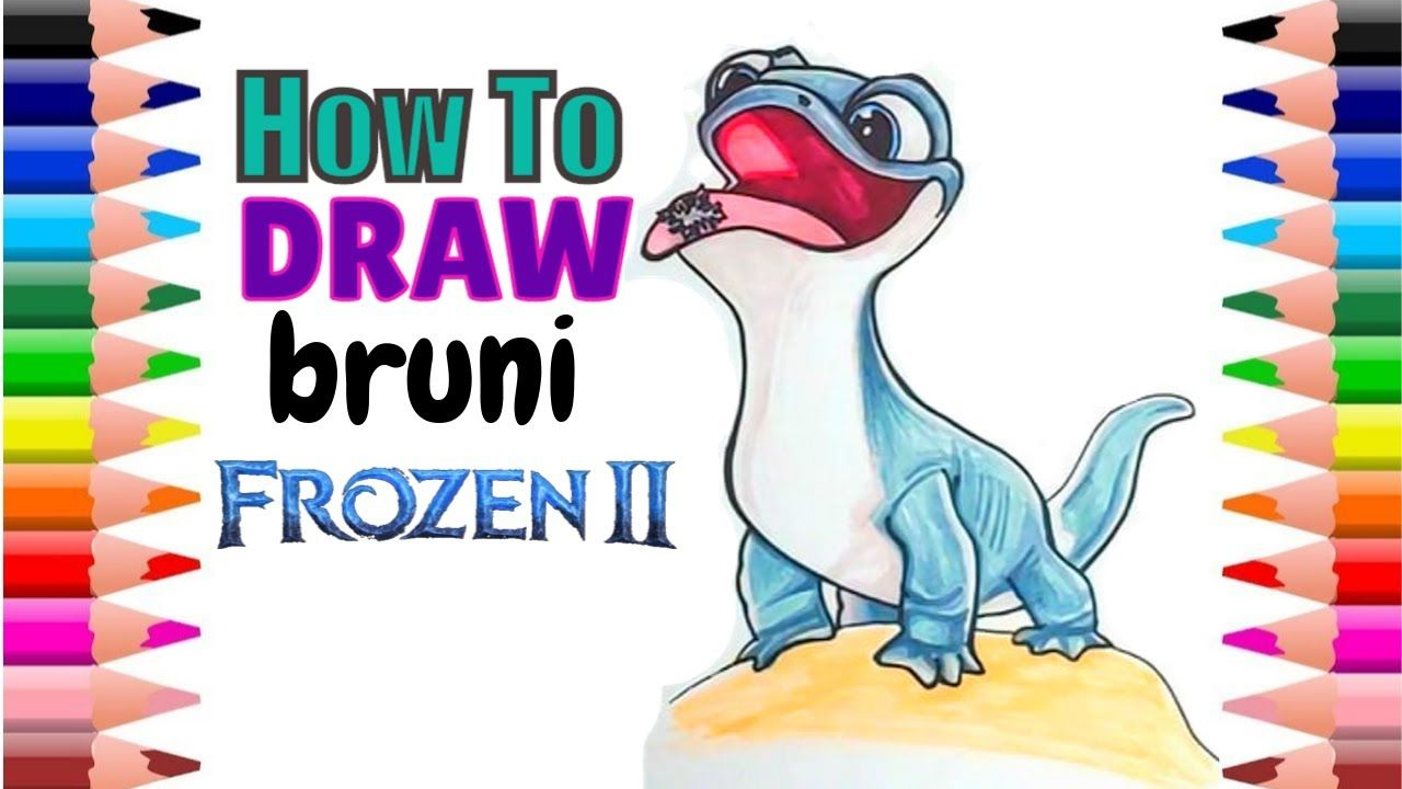 Excited To Share The Latest Addition To My Etsy Shop Disney Frozen 2 Bruni Salamander Fire Lizard Color A In 2020 Frozen Drawings Cute Drawings Minnie Mouse Drawing