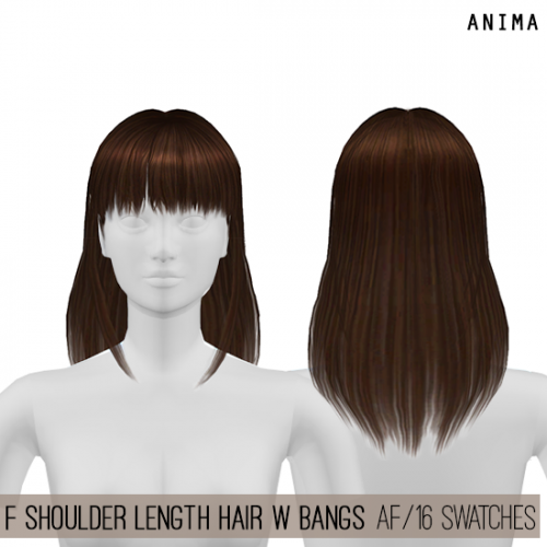 Female Shoulder Length Hair For The Sims 4 By Anima Trong 2020