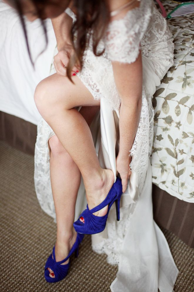 A Chic, Unique and Creative Rainbow Wedding | Wedding, Suede shoes ...