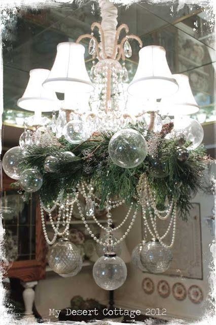 decorate your chandelier for christmas
