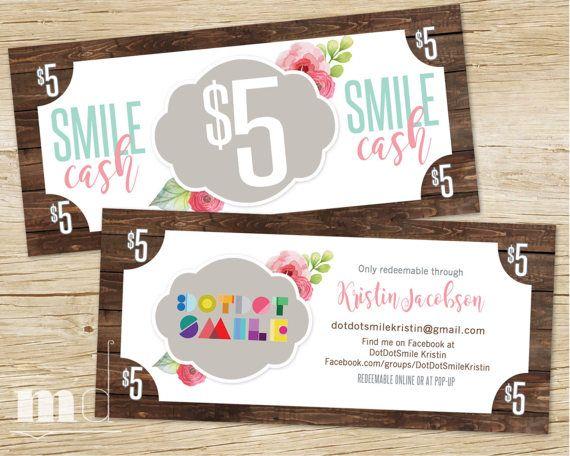 Smile Cash Dotdotsmile Money Bucks 5 Dollar Coupon Gift Card Gift Certificate 10 Dollar 15 Dollar Promo Voucher B Dot Dot Smile Cash Gift Gift Coupons