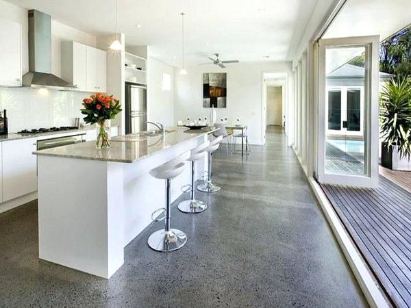 Full Image For Polished Concrete Floors Modern Floor Options In Contemporary Homes House Imagesconcrete Transportable Cement