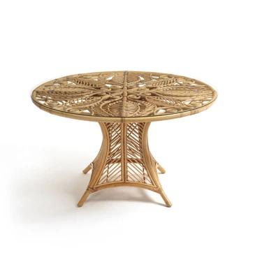 Table Ronde En Rotin Calamus Am Pm Jardin En 2020 Table De Jardin Table Ovale Chaise Rotin