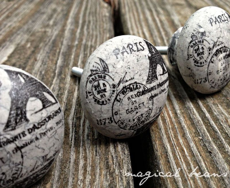 Vintage Inspired Paris Decorative Knob - product images  of