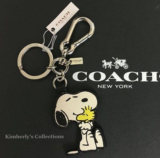 Coach X Peanuts Limited Edition Snoopy Woodstock Key Ring Chain Purse Charm Fob Coach Snoopy Woodstock Pe Snoopy And Woodstock Purse Charms Snoopy Purse