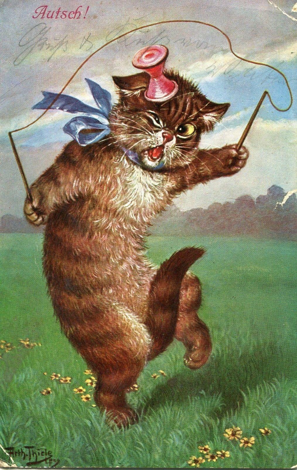 Arthur Thiele Cats Illustration Cat Art Cat Drawing