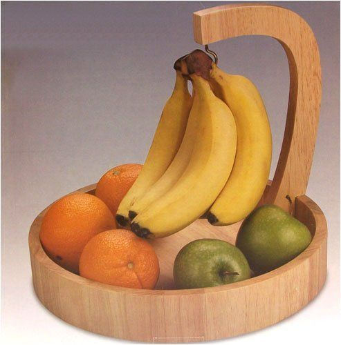 Wooden Fruit Bowl With Banana Hanger Google Search