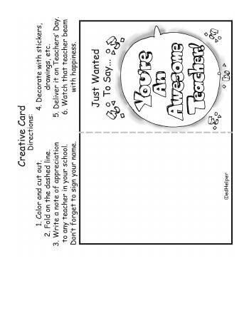 Cards For Teachers Day Teachersday Com Teachers Day Card Teacher Appreciation Cards Cards
