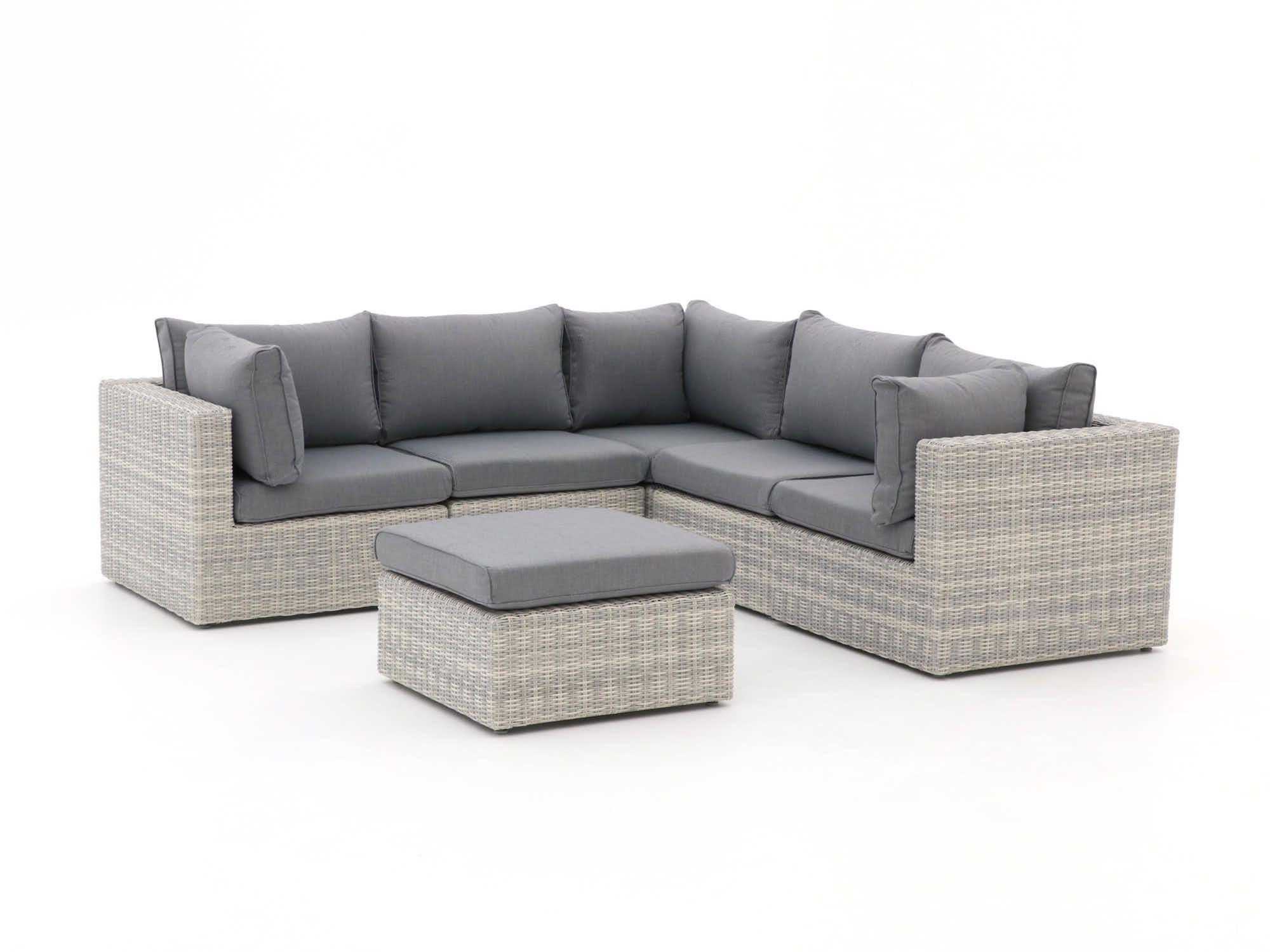 Hoek Loungeset Grijs.Hoek Loungeset Wit Voor In De Tuin Met Grijze Kussens Comfortabel