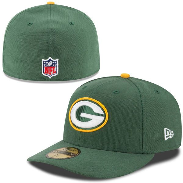 21a714a63 Men s Green Bay Packers New Era Green On-Field Low Crown 59FIFTY Fitted Hat