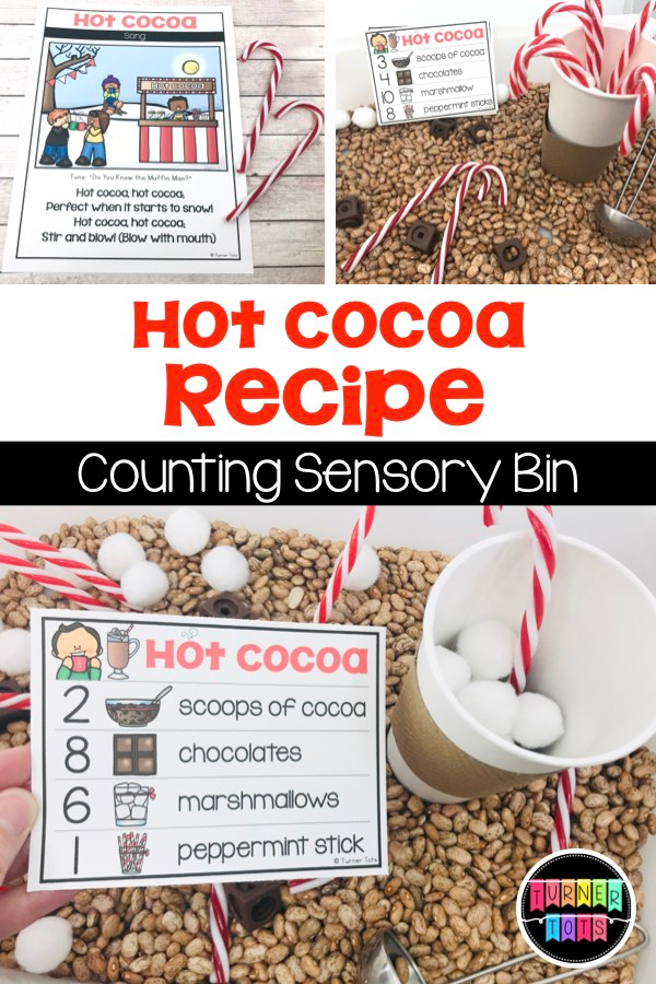 Photo of Hot Cocoa Recipe Cards for the Sensory Bin