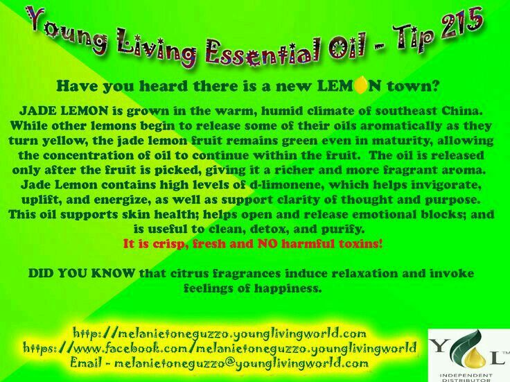 Jade Lemon Young Living Young Living Oil Singles