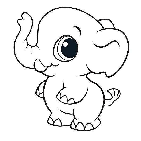 Dibujos de elefantes tiernos para colorear | constanza | Pinterest ...