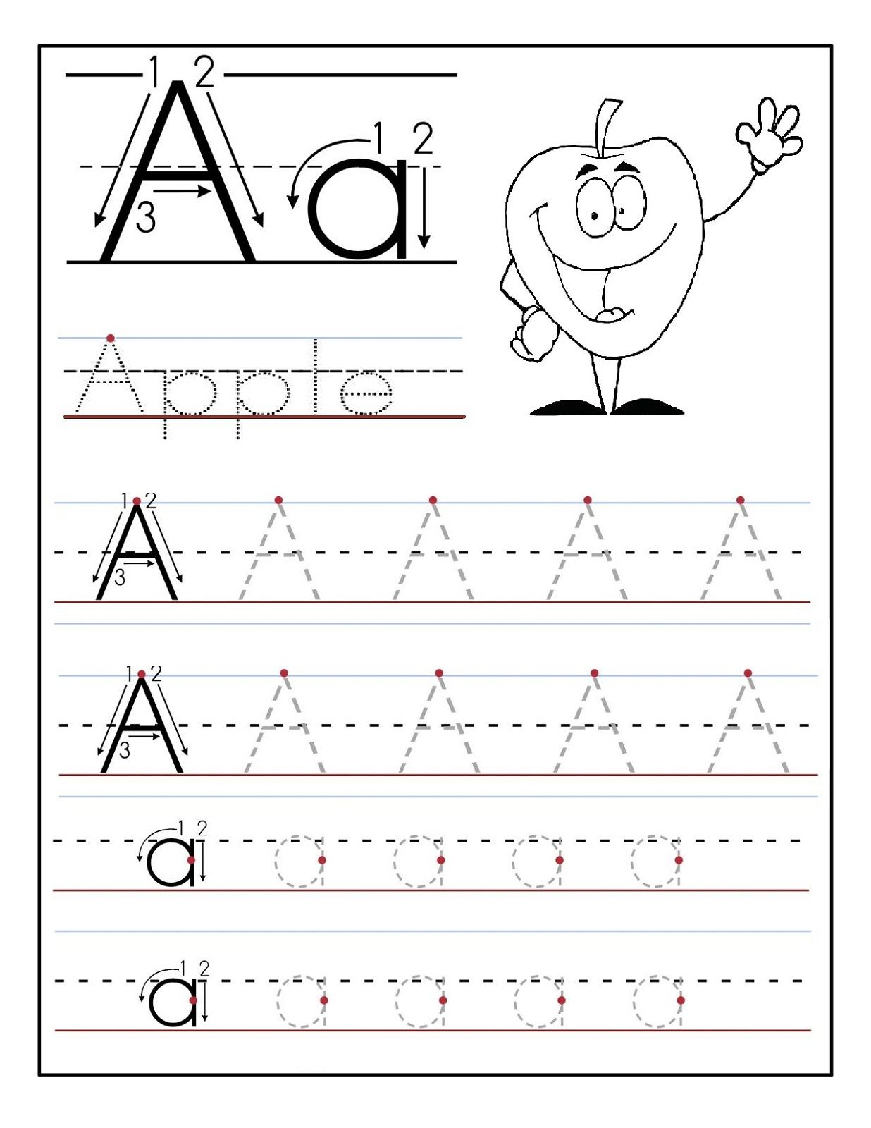 Kids Worksheet Abc Tracing To Learn Writing