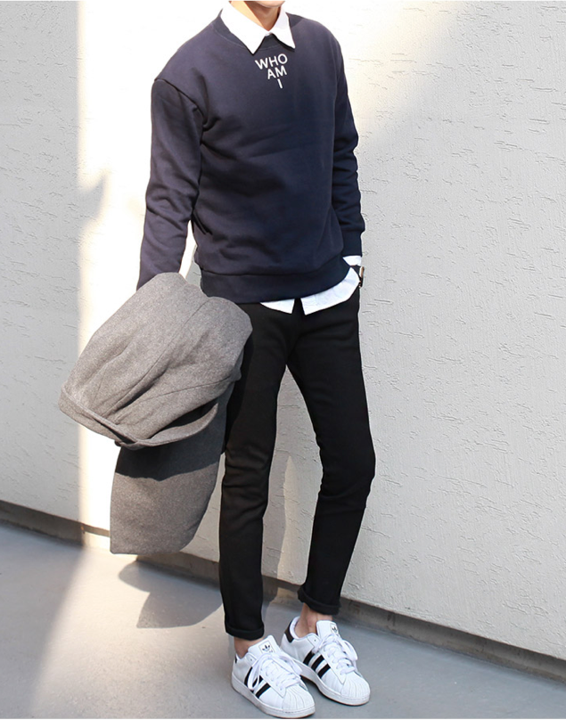 Saturday gent | Korean fashion men, Adidas superstar outfit