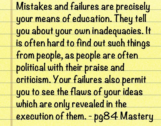 Mastery Robert Greene Quote On Mistakes And Failures Quotes