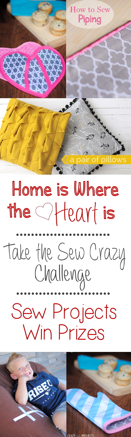 Home is Where the Heart is Februarys Sew Crazy Challenge Come find out more