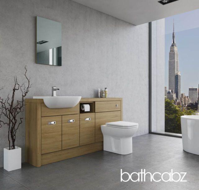 Oak Ed Bathroom Furniture P3 1600mm Base Units