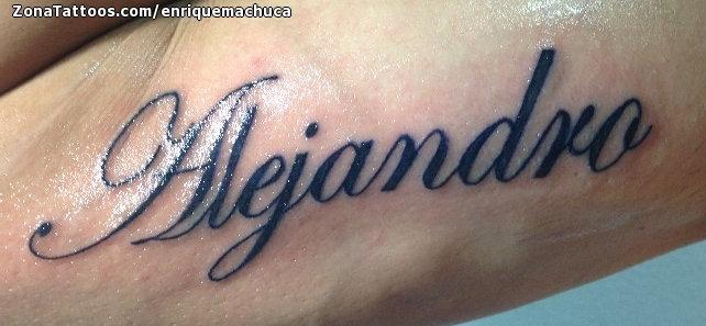 Tatuaje de Nombres, Alejandro, Letras en 2020 Tatuaje de