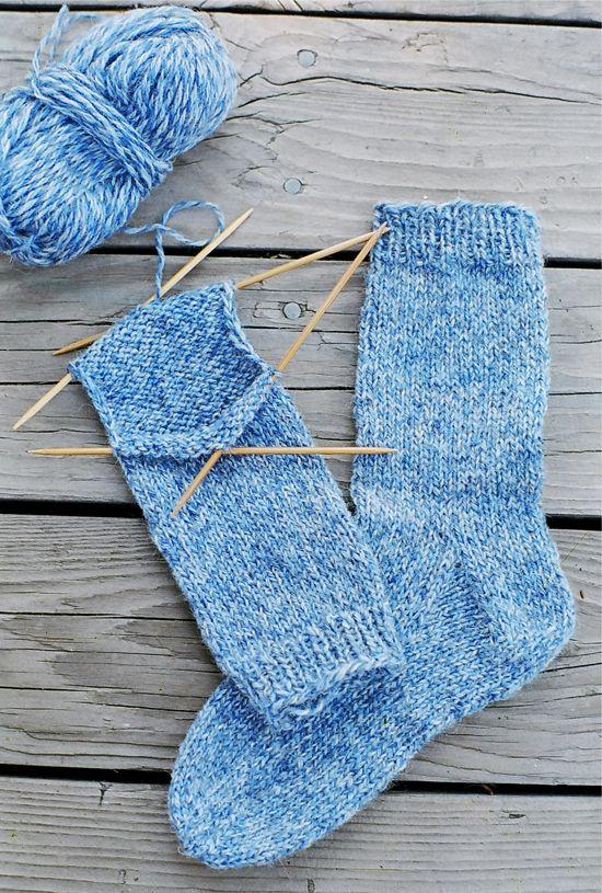 Principiante + Knitting + Instrucciones | PATRONES CALCETÍN ...