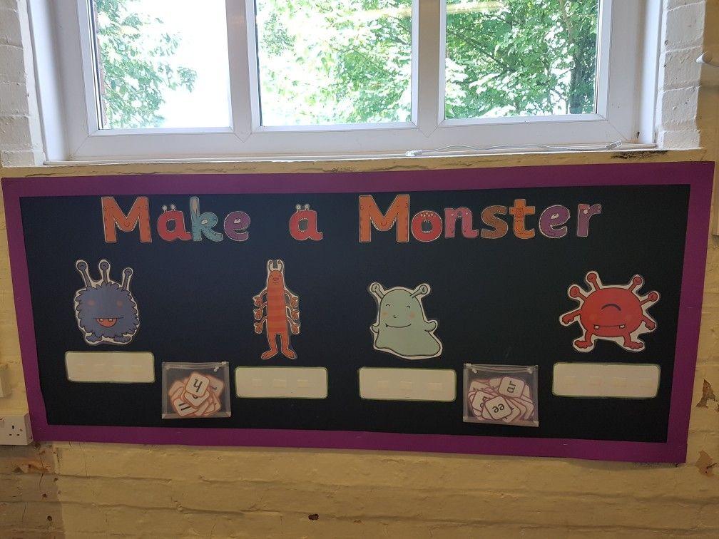 Monster word phonics display | Nursery activities, Phonics ...