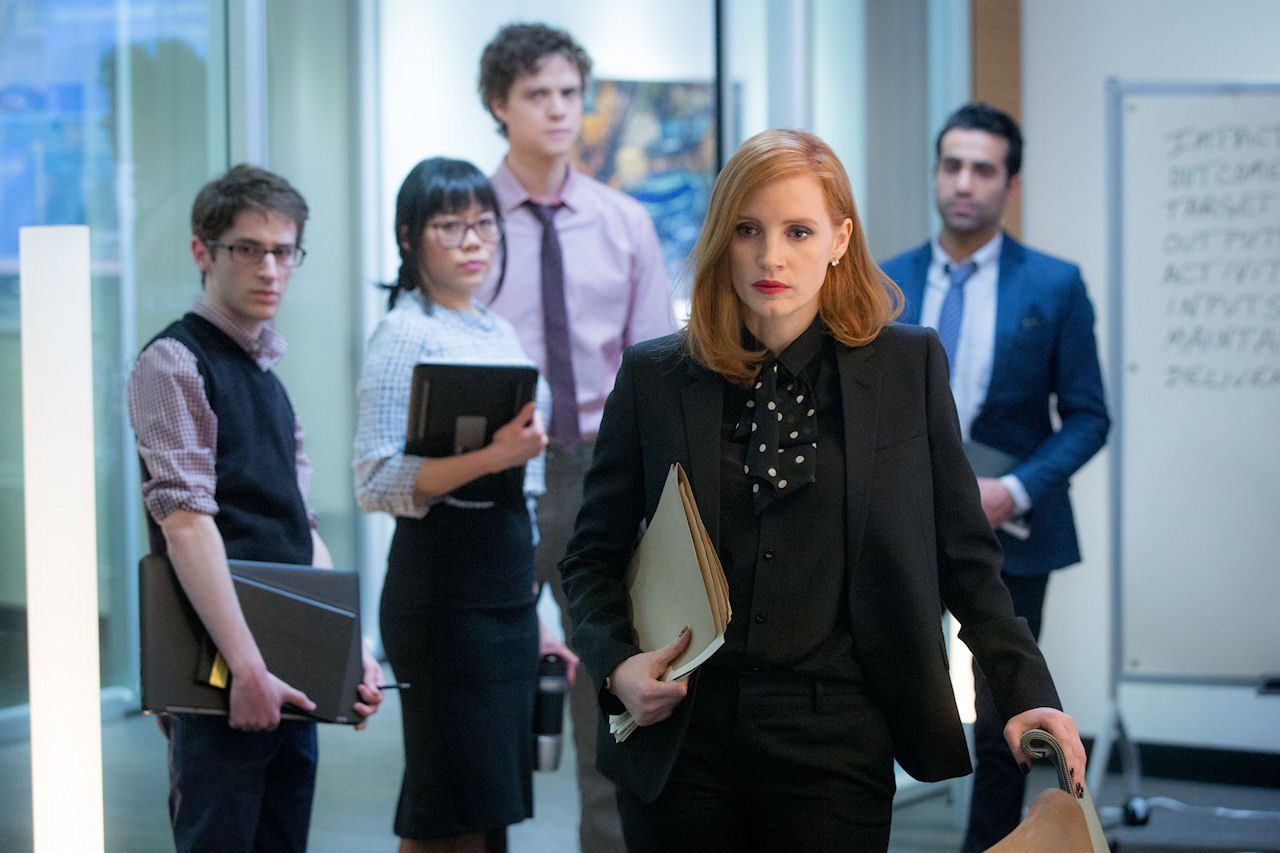 Miss Sloane Photo Gallery Jessica Chastain Mark Strong Gugu Mbatha Raw Sam Waterston Michael Stuhlbarg John L Miss Sloane Movie Jessica Chastain Movies