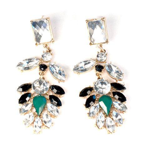Green Gem Earrings | HotOnTrend.com