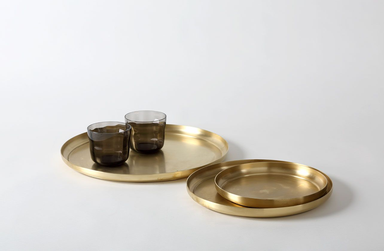 Michael Verheyden Serve Set - Three Stainless Steel Trays :Gorgeous and ridonkulously expensive