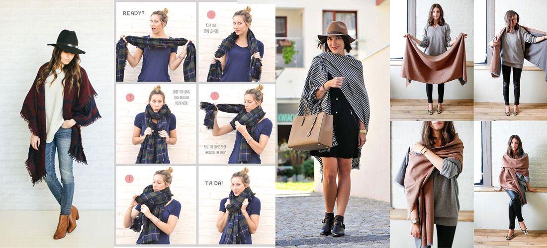 10 formas de usar tu bufanda tipo manta