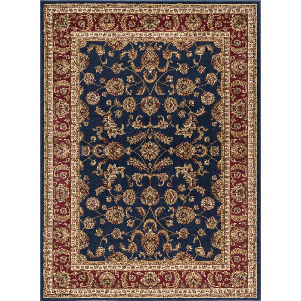 Tayse Rugs Sensation Navy Blue 7 Ft X 10 Ft Transitional Area