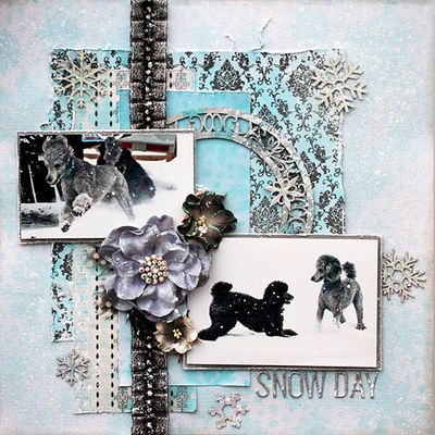 DT project by Maggi Harding using the new April kit, Tiffany's.   Join us for our blog hop 12/12-13!  swirlydoos.com