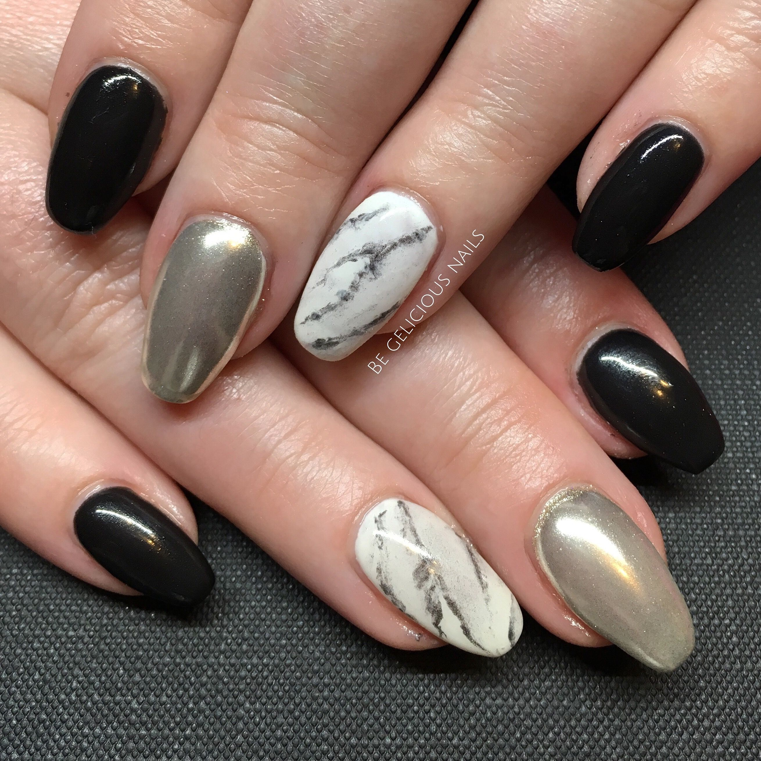 Calgel nails nail art nail design chrome marble black white calgel nails nail art nail design chrome marble black white prinsesfo Gallery