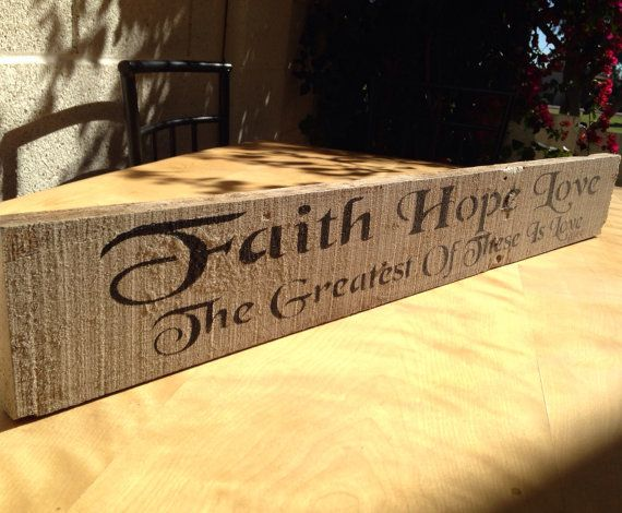 Faith Hope Love - Reclaimed Pallet Sign - Home Decor - Wall Hanging ...