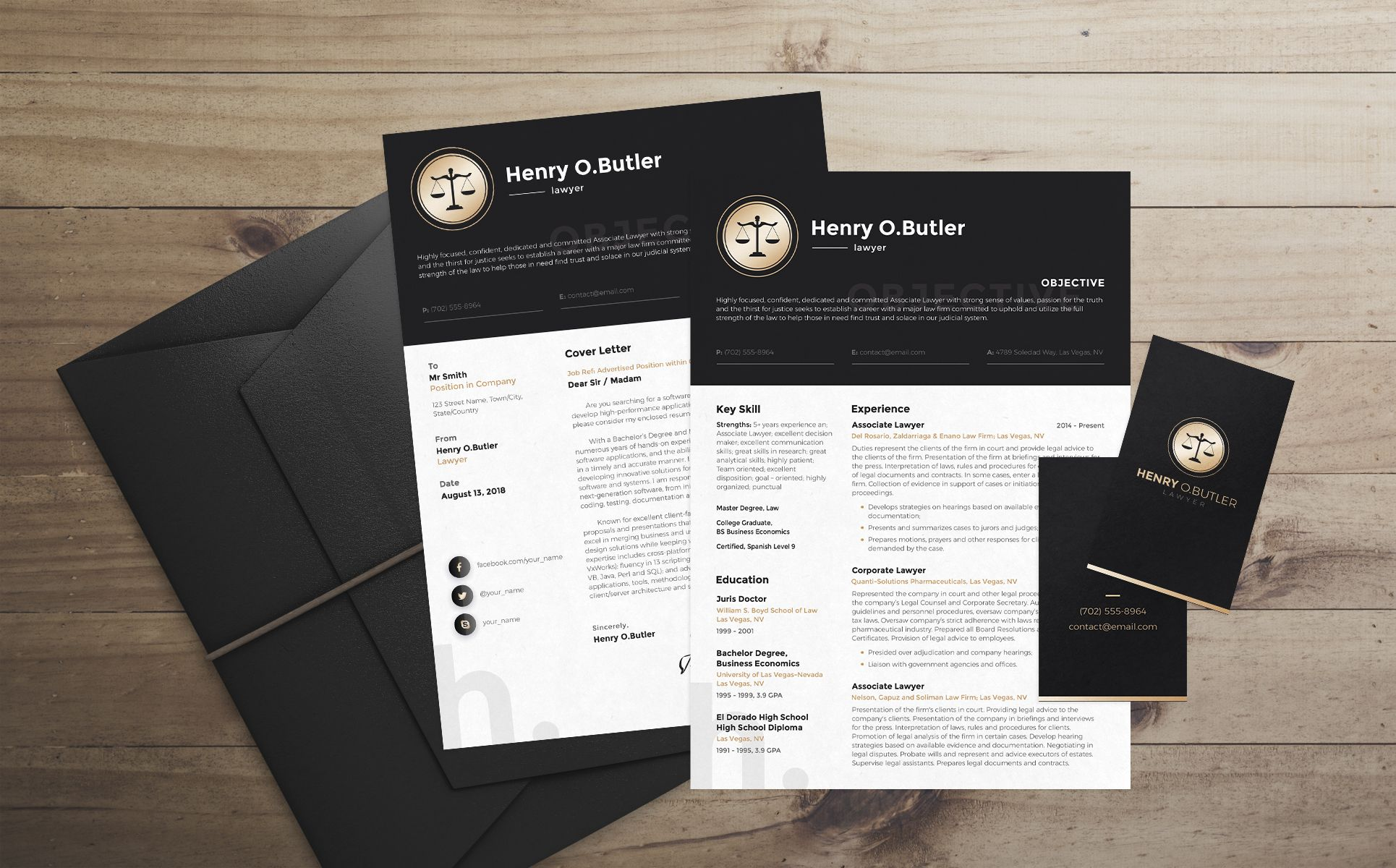 Henry O. Butler - Lawyer Resume Template | Diy | Resume ...