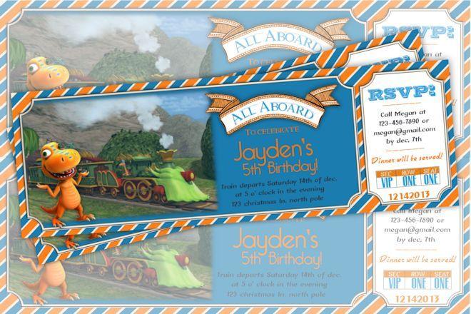 Dinosaur Train Birthday Invitations Dinosaur Train Ticket Birthday
