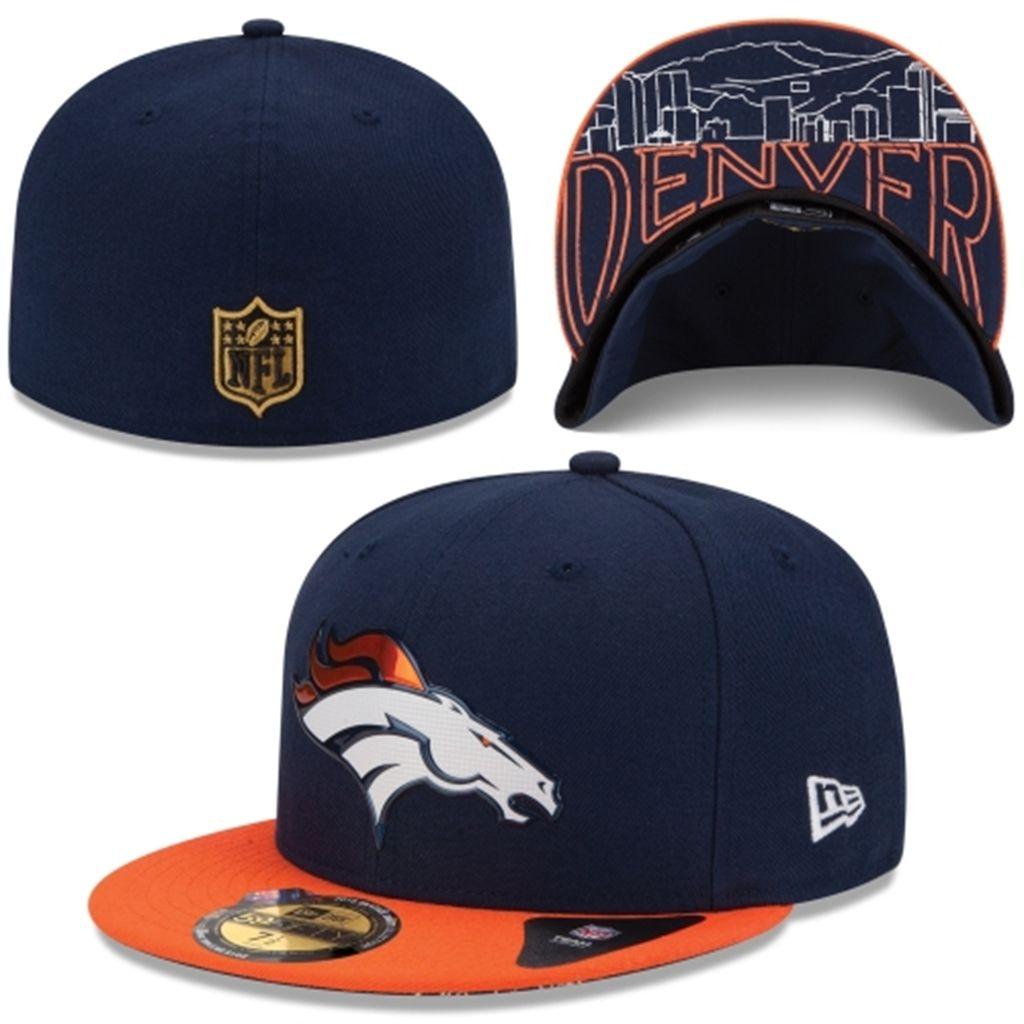 6197dbb9435 Men s Denver Broncos New Era Navy Blue 2015 NFL Draft On-Stage 59FIFTY  Fitted Hat
