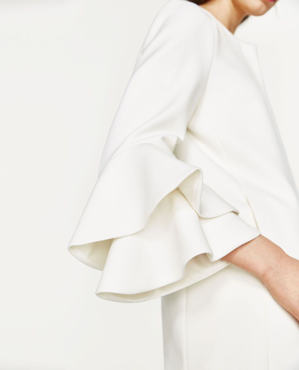 COAT WITH DOUBLE RUFFLED CUFFS-View All-OUTERWEAR-WOMAN | ZARA ...