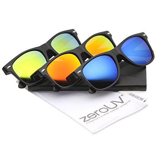 c96de40b5a zeroUV - Matte Finish Color Mirror Lens Large Square Horn... https ...