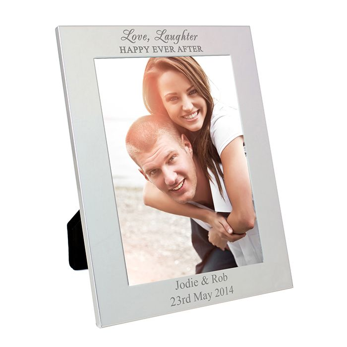 Silver 5x7 Happily Ever After Frame Personalise this silver 5x7 Happily Ever After photo frame with any message up to  2 lines at the bottom of the frame, up to 30 characters each. Ideal for Valentines, Weddings, Engagements and Anniversaries. £11.79  Free UK Delivery