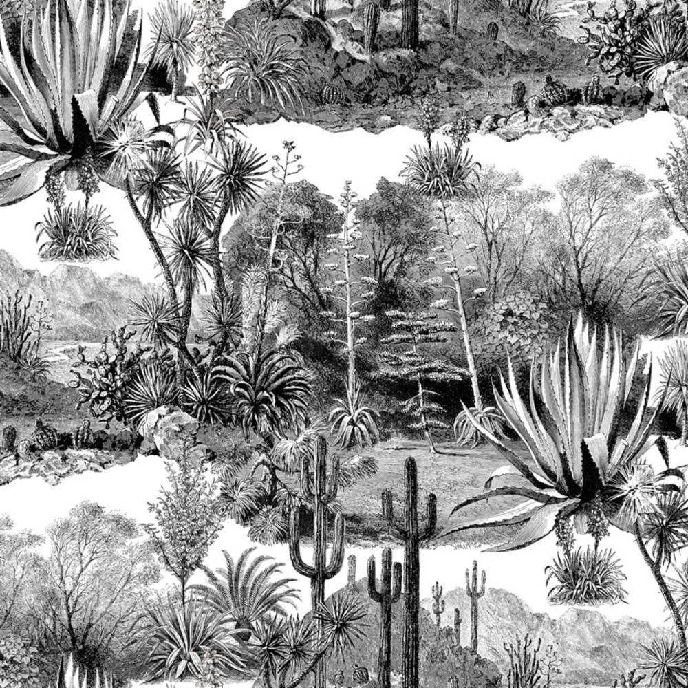 Tendance décoration cactus : tendance cactus - Elle Décoration en 2019 | Papier peint, Papier ...