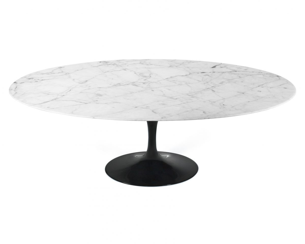 Tulip Table Oval Carrara Tulip Table Marbles And Saarinen Table - Oval tulip table reproduction