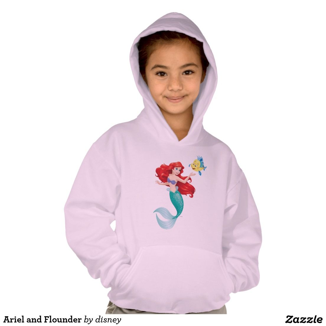 Princess - Ariel and Flounder T-shirt. Producto disponible en tienda Zazzle. Vestuario, moda. Product available in Zazzle store. Fashion wardrobe. Regalos, Gifts. #camiseta #tshirt