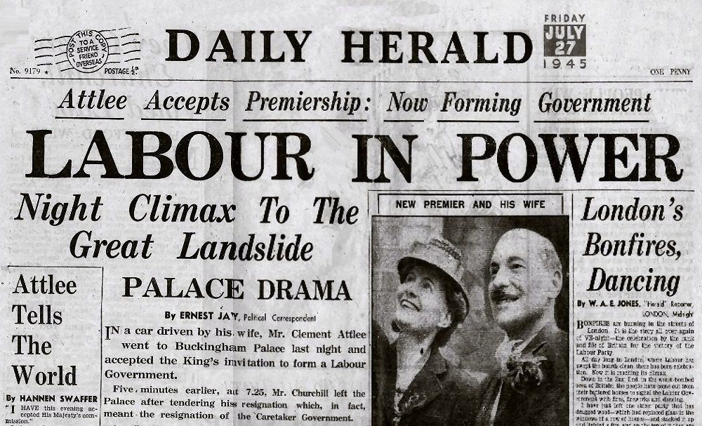 the 1945 uk general election The conservative defeat in this year's general election is probably the  in 1945,  for example, labour's weakest performances in urban britain.