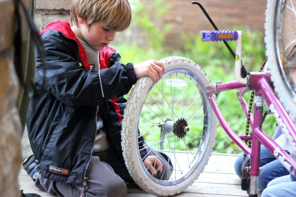 Fixing A Bike Tire Kids Bike Bike Tire Bike