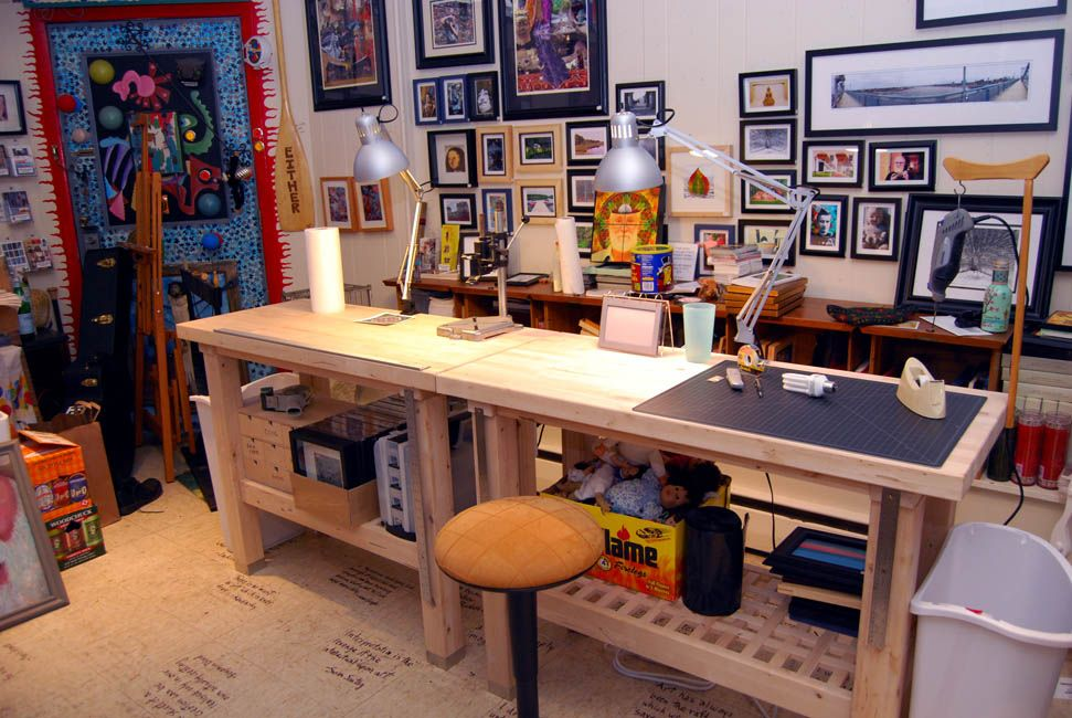 Groland Work Bench Tables From Ikea For My Future Art Studio