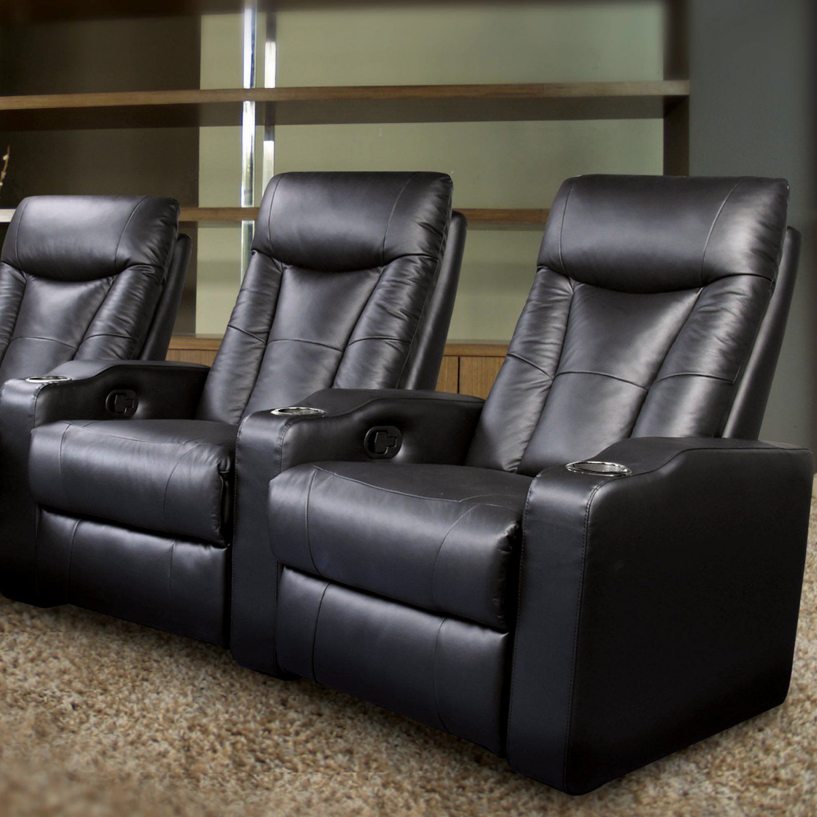 Pavillion Black Leather Home Theater Group Penthouse Indy Conrad