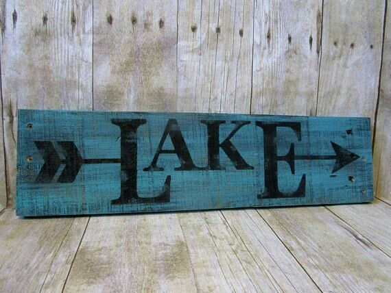Lake Sign Lake House Signs Lake House Gifts Lake Signs