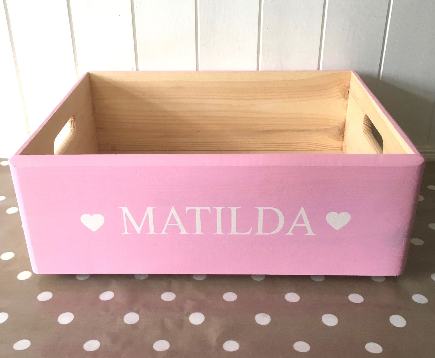 Dog Toy Box Personalised Hand Painted Wooden Toy Box Pet Storage