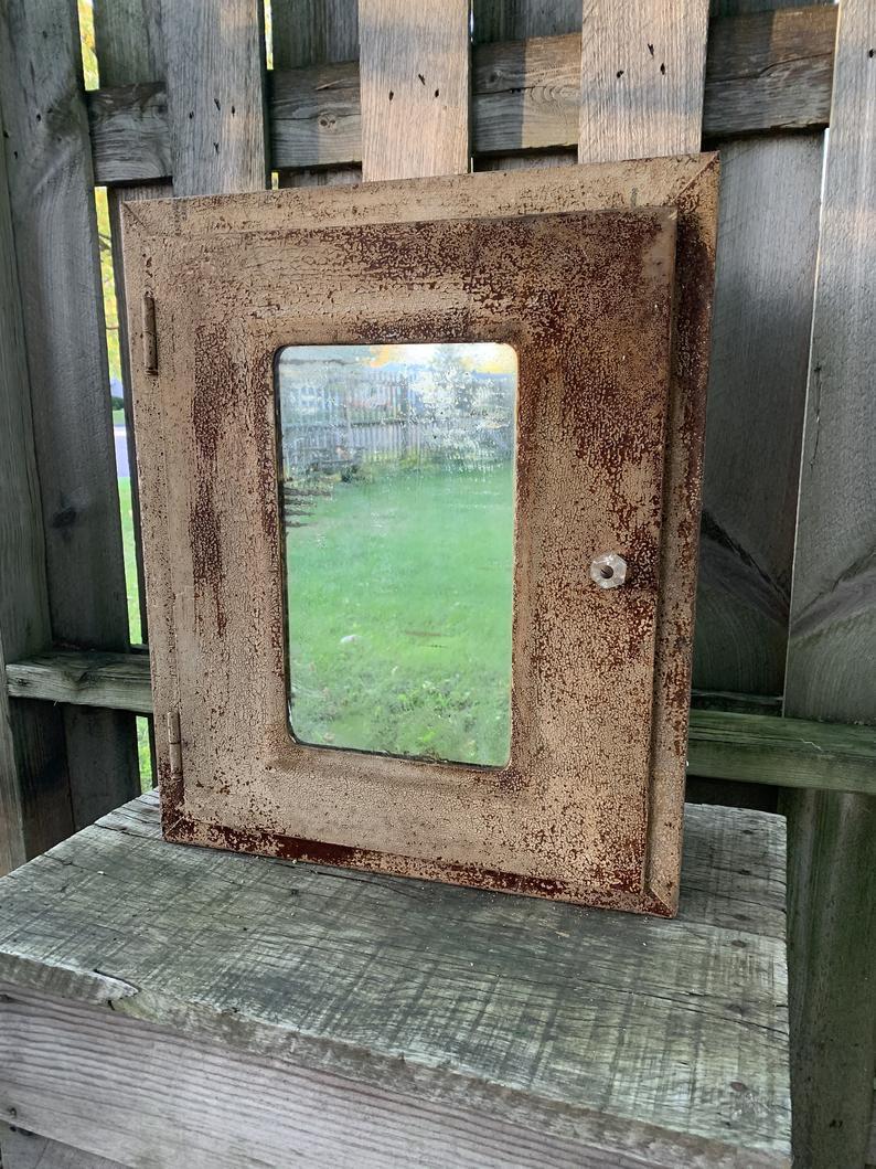 Rustic Farmhouse Style Medicine Vanity Bathroom