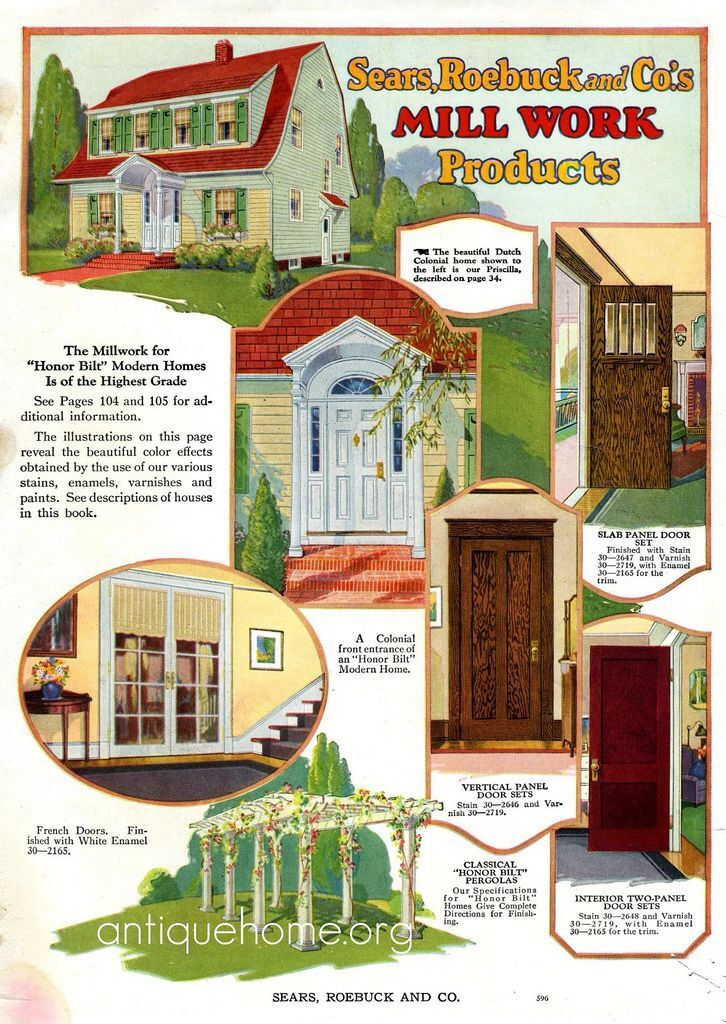Interior Details Of Sears Home Craftsman House Plans Dutch Colonial Homes Craftsman House